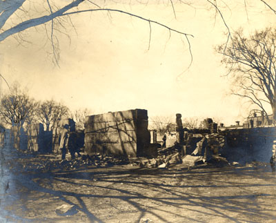 Burned ruins of 3rd  Meeting House