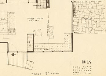 Plan of one of the houses from the Kalmia Woods Corporation.