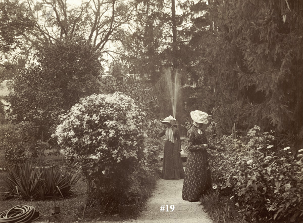 Miss Mary and Eliza Munroe in the Munroe garden.