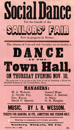 Social Dance for the Benefit of the Sailors' Fair ...