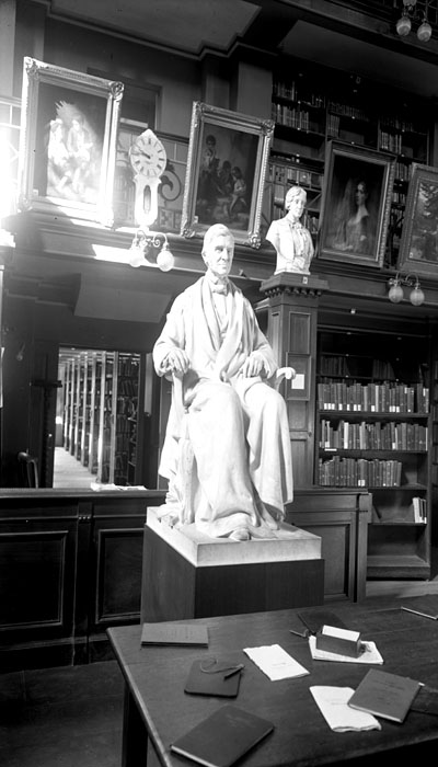 RWE statue, CFPL Library