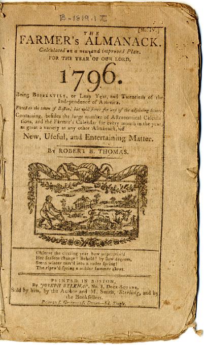 Concord Free Public Library Almanac Collection, 1792-1950 ...