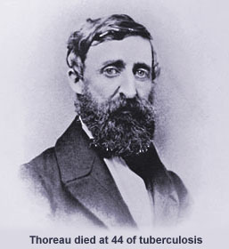 Henry Thoreau died of consumption at 44