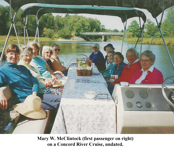 Mary McClintock, Concord boat cruise