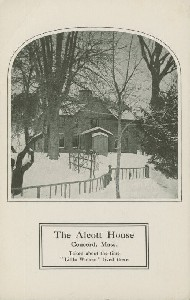 The Alcott House, Concord,  	Mass., Taken about the time 'Little Women' lived there; early 20th century