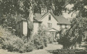'Orchard  	House' The Home of Louisa May Alcott, Concord, Mass.; mid 20th century (based on postmark on copy 2