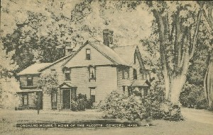 'Orchard  	House,' Home of the Alcotts, Concord, Mass.; early 20th century