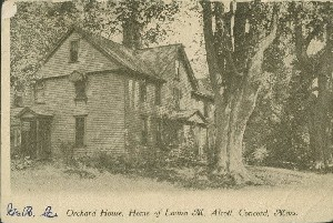 Orchard House, Home of  	Louisa M. Alcott, Concord, Mass.; circa 1907 (postmark)