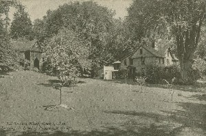 The Orchard House,  	Concord, Mass., Showing the School of Philosophy at the left.; early to mid- 20th century