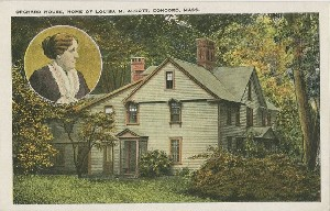 Orchard House, Home of  	Louisa M. Alcott, Concord, Mass.; early 20th century