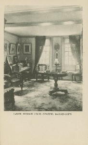 Parlor, Orchard House,  	Concord, Massachusetts; early 20th century