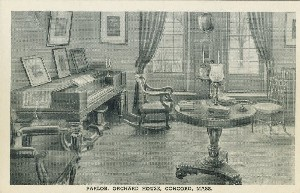 Parlor, Orchard House,  	Concord, Mass.; early to mid- 20th century