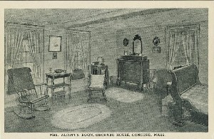 Mrs. Alcott's room, Orchard  	House, Concord, Mass.; early to mid- 20th century