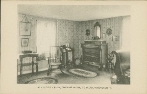 Mrs. Alcott's room, Orchard  	House, Concord, Mass.;