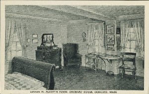 Louisa M. Alcott's room,  	Orchard House, Concord, Mass.; early to mid- 20th century