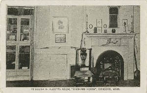 In Louisa M. Alcott's Room,  	'Orchard House', Concord, Mass.; mid- to late 20th century