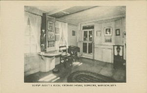 Louisa Alcott's room, Orchard 	 House, Concord, Massachusetts; early 20th century