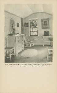 May Alcott's room, Orchard  	House, Concord, Massachusetts; early 20th century