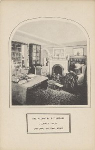 Mrs. Alcott in the Library,  	Orchard House, Concord, Massachusetts; early 1900s