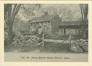 The Col. James Barrett  	House, Concord, Mass.; early to mid- 20th century