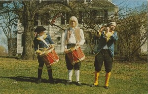 '…with fife and  	drums playing…'; 1966 (copyright date)