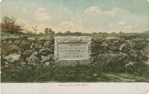 Stone at Concord, Mass.;  	early 20th century