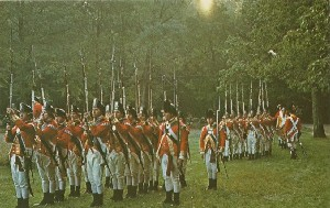 British soldiers of the 10th  	Foot in 1775; 1975 (copyright date)