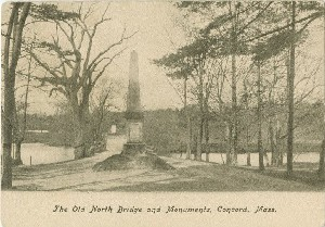 The Old North Bridge and  	Monuments, Concord, Mass.; early 20th century