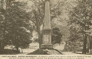Concord, Mass. British  	Monument; early to mid- 20th century