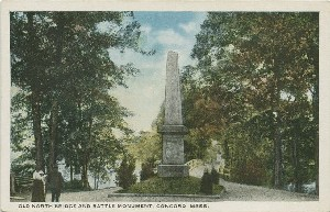 Old North Bridge and  	Battle Monument, Concord, Mass.; early to mid- 20th century
