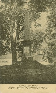 Battle Monument; early  	20th century