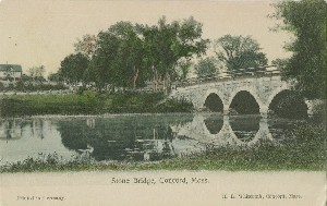 Stone Bridge, Concord,  	Mass.; early 20th century