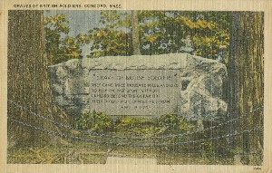 Graves of British Soldiers;  	circa 1950 (postmark date)