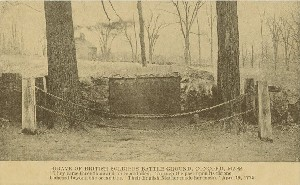 Grave of British Soldiers  	Battle Ground, Concord, Mass.; early 20th century
