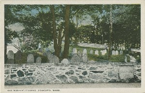 Old Burying Ground,  	Concord, Mass.; early 20th century