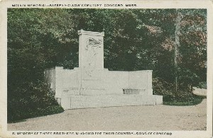Melvin  	Memorial—Sleepy Hollow Cemetery, Concord, Mass.; early 20th century