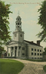 First Parish Meeting House,  	Concord, Mass.; mid- to late 20th century