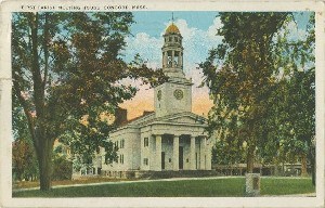 First Parish Meeting House,  	Concord, Mass.; circa 1934 (postmark date)
