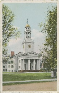 Meeting House of the First  	Parish, Concord, Mass.; early to mid- 20th century
