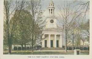 The Old First Church,  	Concord, Mass.; early 20th century