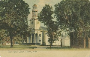 First Parish Church,  	Concord, Mass.; 1904 (copyright date)