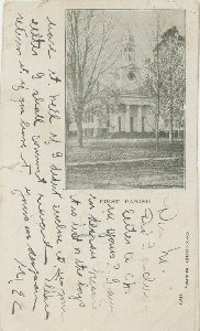 First Parish; circa 1905  	(postmark date)