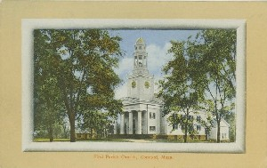 First Parish Church,  	Concord, Mass.; early 20th century