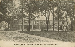 Concord, Mass. The  	Colonial Inn. Provincial Store House, 1775; early 20th century