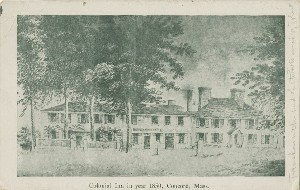 Colonial Inn in year 1850,  	Concord, Mass.; early 20th century