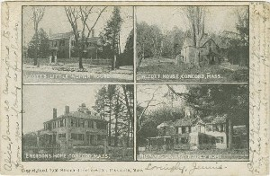 [Homes of Concord  	authors]; circa 1906 (postmark date)