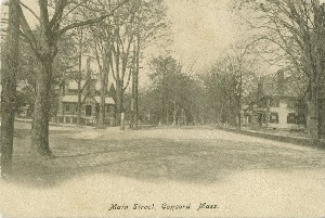 Main Street, Concord,  	Mass.; early 20th century