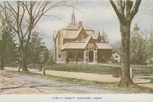 Public Library, Concord,  	Mass; early 20th century