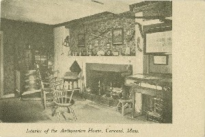 Interior of the  	Antiquarian House, Concord, Mass.;