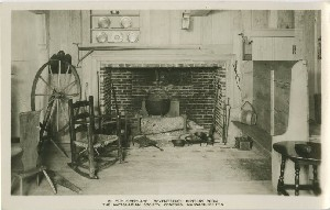 The Fireplace.  	Seventeenth Century Room, The Antiquarian Society, Concord, Massachusetts; early to mid- 20th century
